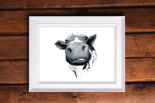 Load image into Gallery viewer, Cow Watercolor Print
