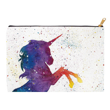 Load image into Gallery viewer, Galaxy Unicorn Zippered Pouch