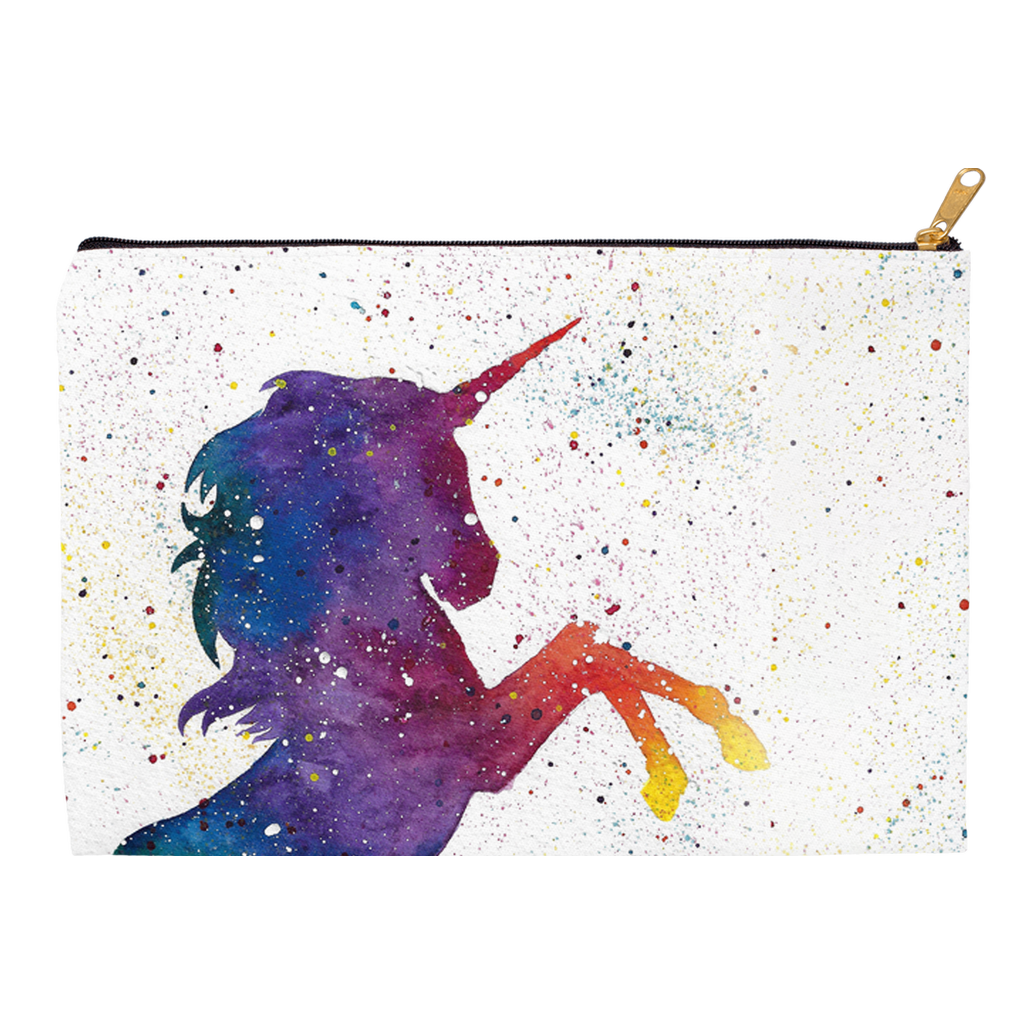 Galaxy Unicorn Zippered Pouch