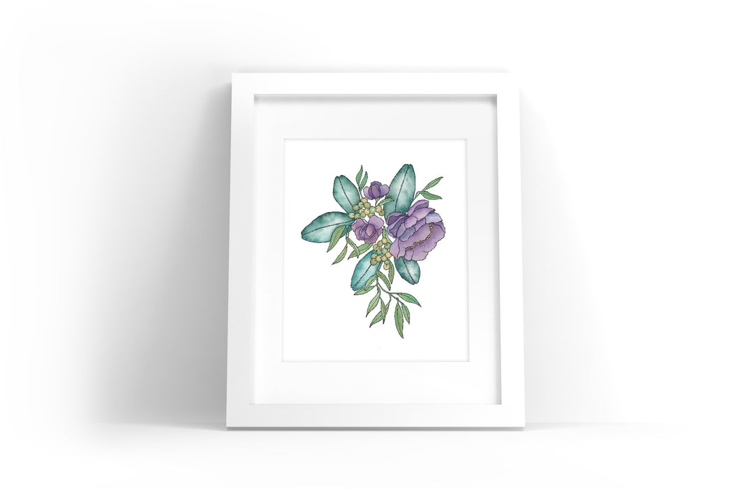 Floral Illustration #2 Watercolor Print