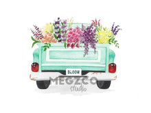 Load image into Gallery viewer, Flower Truck Watercolor Print