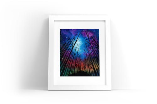 Northern Forest Watercolor Print