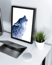 Load image into Gallery viewer, Galaxy Wolf Watercolor Print