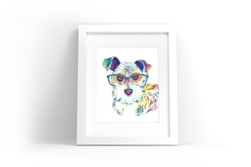 Miniature Schnauzer Watercolor Print