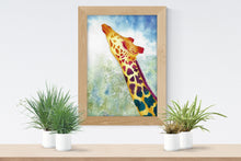 Load image into Gallery viewer, Colorful Giraffe Watercolor Print