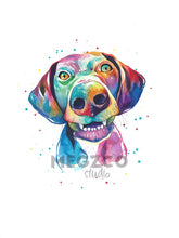 Load image into Gallery viewer, German Shorthair Pointer Watercolor Print