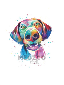 German Shorthair Pointer Watercolor Print