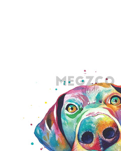 Peekaboo GSP Watercolor Print