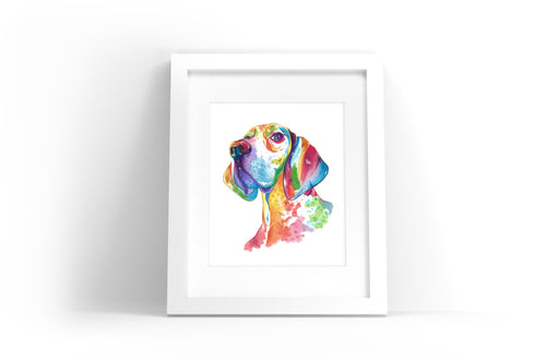 Great Dane Watercolor Print