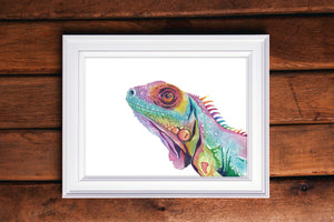 Iguana Watercolor Print