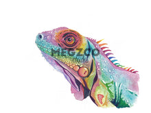Load image into Gallery viewer, Iguana Watercolor Print