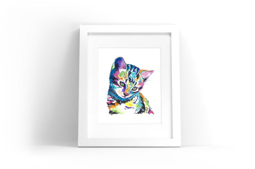 Kitten Watercolor Print