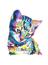 Load image into Gallery viewer, Kitten Watercolor Print