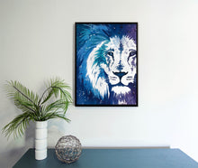 Load image into Gallery viewer, Blue Lion Watercolor Print