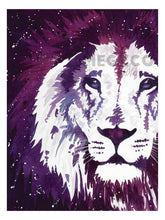 Load image into Gallery viewer, Purple Lion Watercolor Print