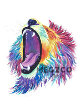 Load image into Gallery viewer, Lion Watercolor Print