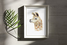 Load image into Gallery viewer, Llama Watercolor Print