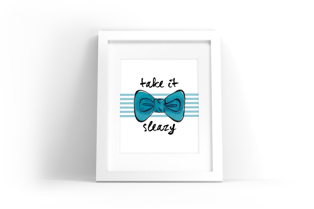 Bowtie Watercolor Print