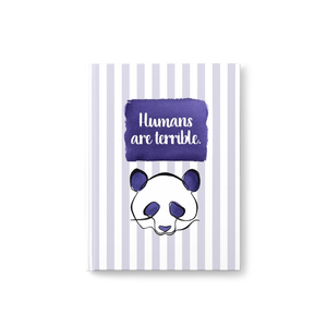 Humans are Terrible Hardcover Journal