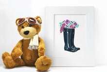 Load image into Gallery viewer, Floral Rainboots Watercolor Print