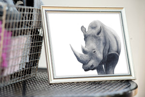 Rhino Watercolor Print