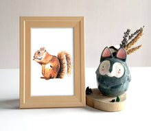 Load image into Gallery viewer, Squirrel Watercolor Print