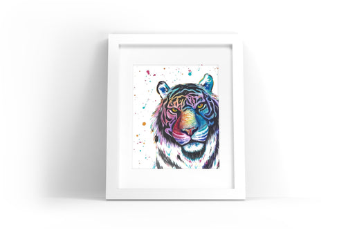 Tiger Watercolor Print