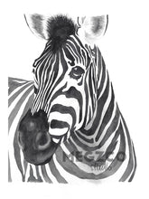 Load image into Gallery viewer, Zebra Watercolor Print