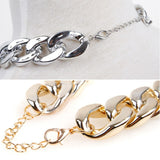 Gangsta Bling Curb Chain Necklace - Gold or Silver