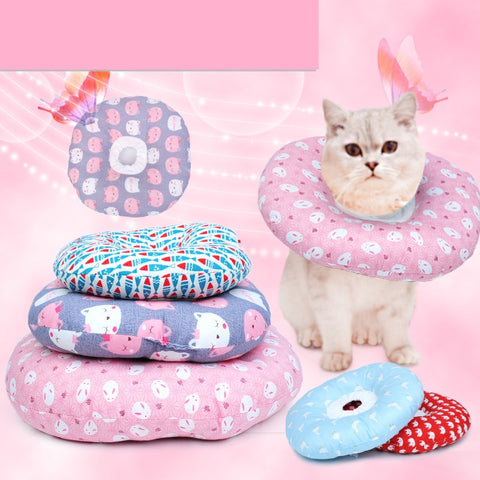 Pet Health Recovery Donut Collar for dogs and cats - 10 colours/4 sizes