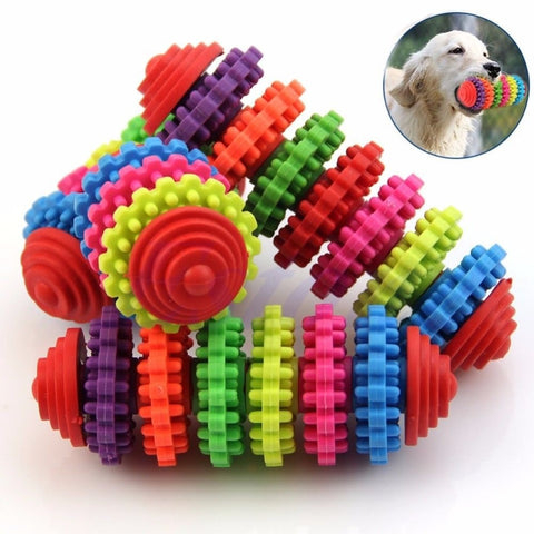 Multi Spinwheel Tooth Cleaning Rubber Chomper for dogs
