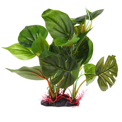 Big Green Cheese Plant Plastic Aquarium Ornament