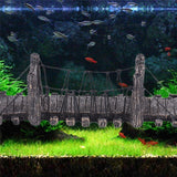 Wooden Suspension Bridge Aquarium Ornament