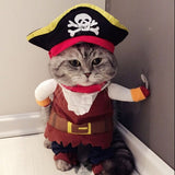 Pirate Fancy Dress Outfit For Cats & Small Dogs