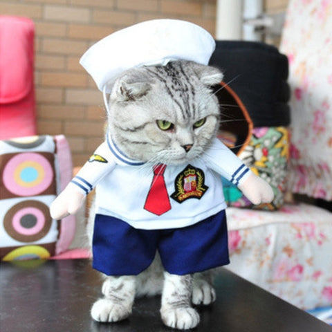 Sailor Fancy Dress Outfit For Cats & Small Dogs