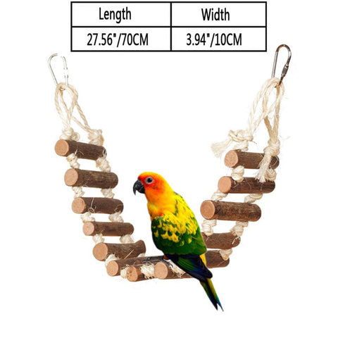 15 Different Colourful Wooden Toys, Swings & Ladders for birds