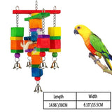 Pet Bird Essentials - 15 Different Colourful Toys, Swings & Ladders