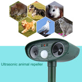 Ultrasonic Solar Pest Repeller - Dog-Cat-Fox-Bird-Squirrel