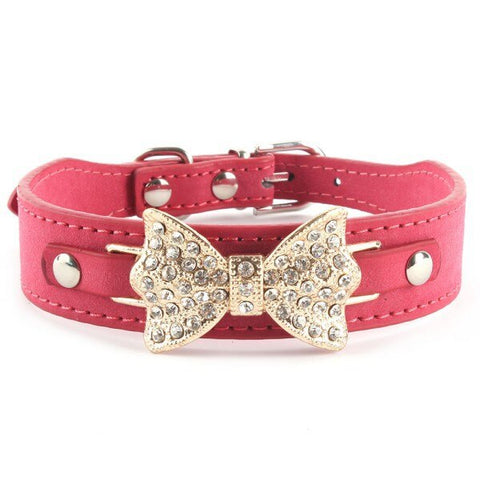 Rhinestone Bowknot Collar -  3 Colours for dogs