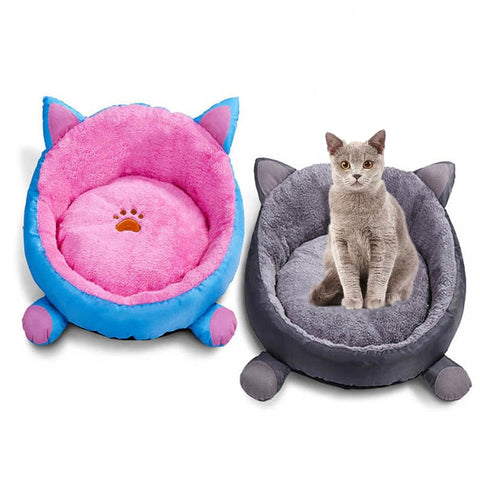 Luxury Cotton Plush Bed - Pink or Grey