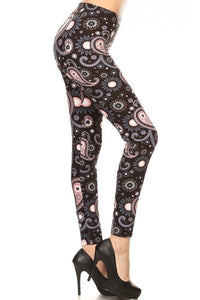 Smokey Pink Paisley Leggings