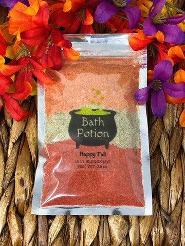 Fall Tri-Colored Bath Potion