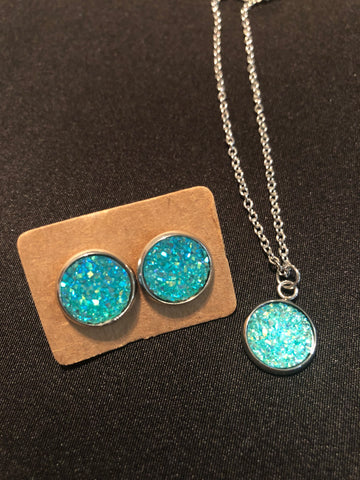 Druzy Earring and Necklace Sets