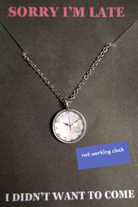 Clock Necklace