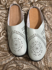 Light Blue Open Back Shoes