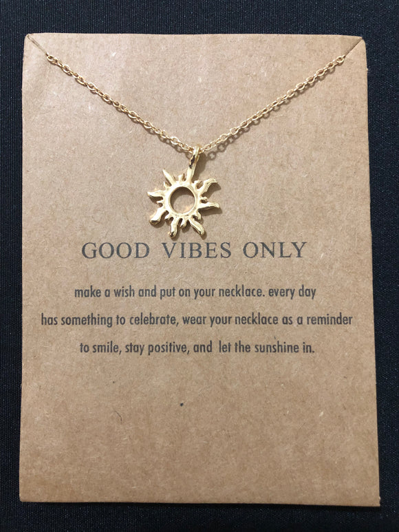Good Vibes Only Necklace