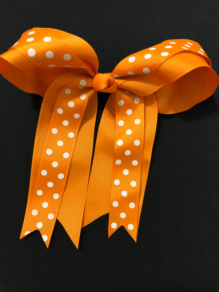 Orange Clip Hair Bows