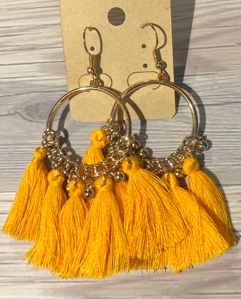 Gold-Tone Fan Earrings