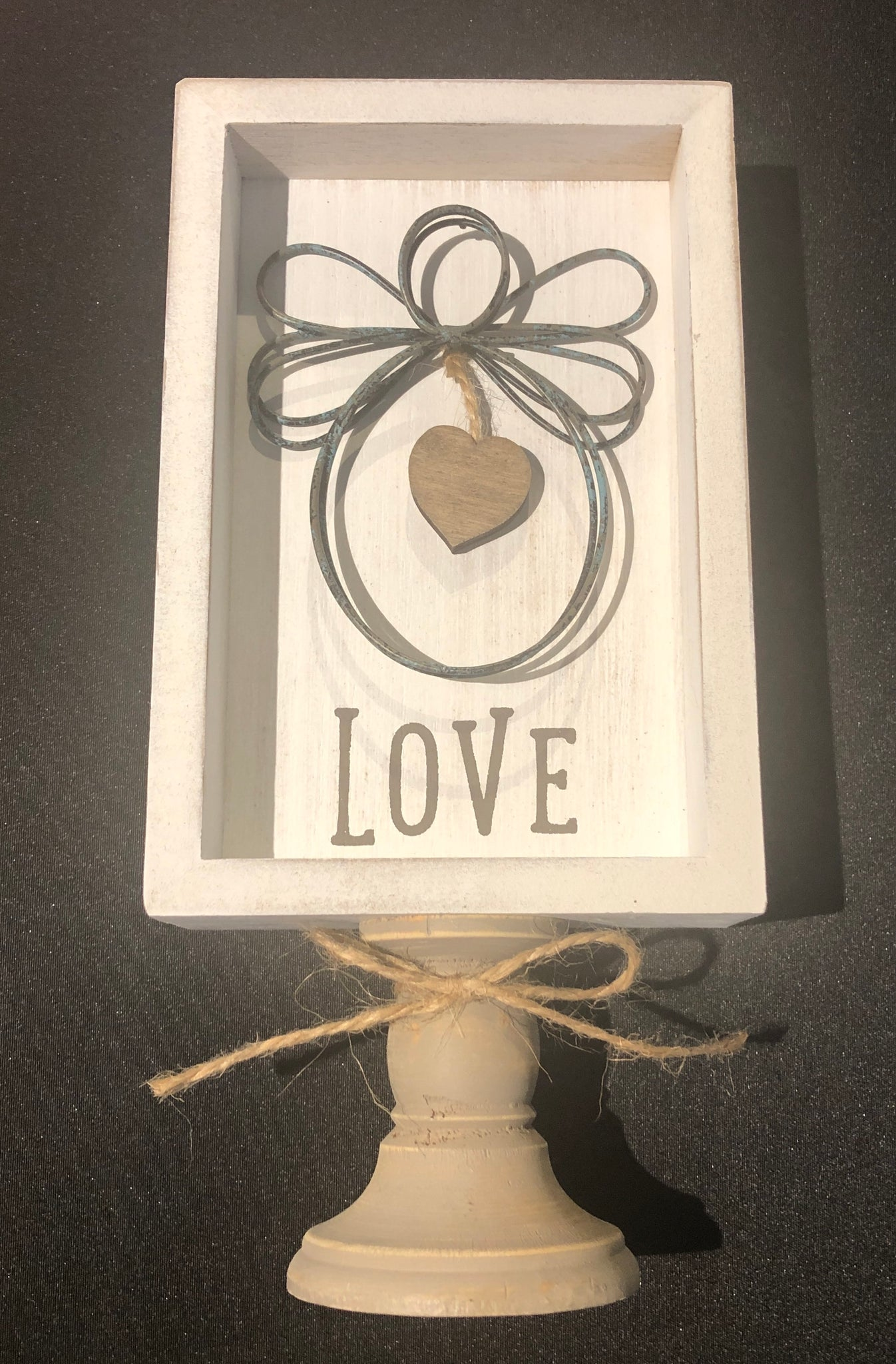 'Love' Angel Pedestal Sign