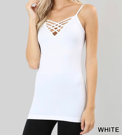 Seamless Lattice Front Cami